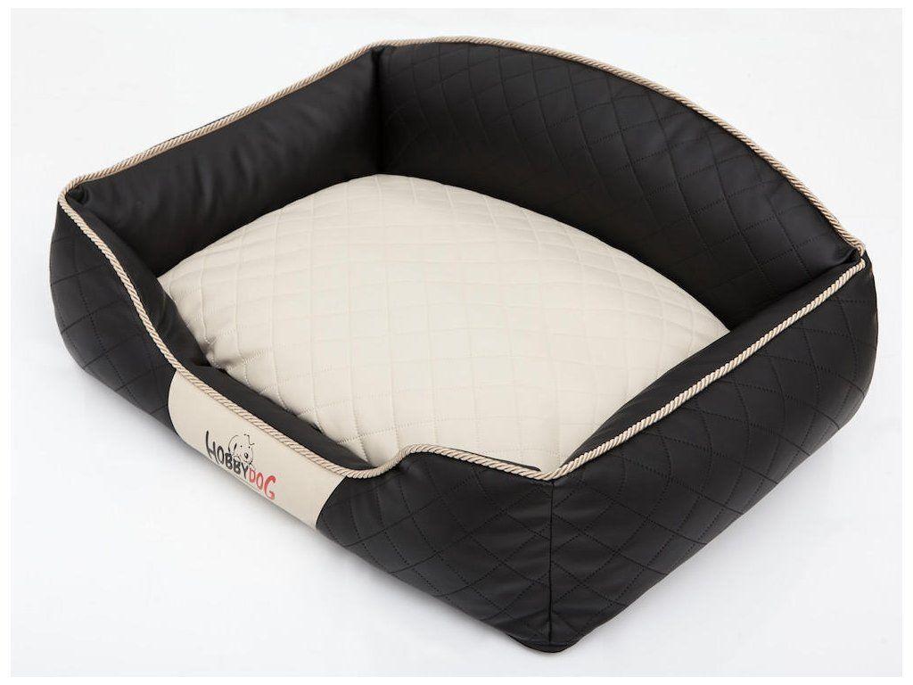 Pelíšek pro psa Elite - černý a béžová matrace