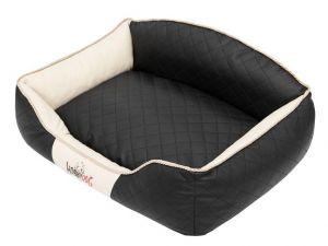 Pelíšek pro psa Elite - černý a béžové boky