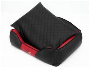 Pelíšek pro psa Elite - černý a červené boky