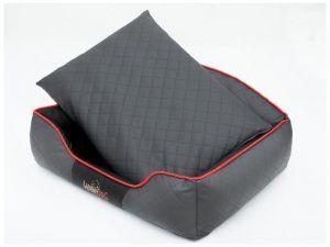 Pelíšek pro psa Elite - šedý a černé boky