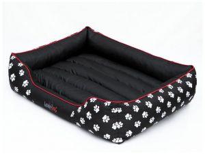 Pelíšek pro psa Prestige - černý a packy