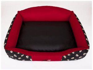 Pelíšek pro psa Royal - červená koruna