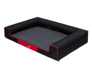 Pelíšek pro psa Victoria - černý a šedá matrace