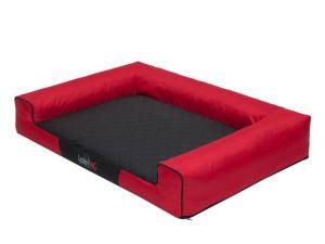 Pelíšek pro psa Victoria - červený a černá matrace