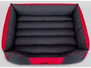 Pelíšek pro psa Comfort - červený s šedou