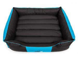 Pelíšek pro psa Comfort - modrý s černou