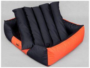 Pelíšek pro psa Comfort - oranžový s černou