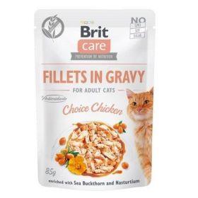 Brit Care Cat kapsička Fillets Gravy Choice Chicken 85 g