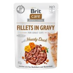 Brit Care Cat kapsička Fillets Gravy Hearty Duck 85 g