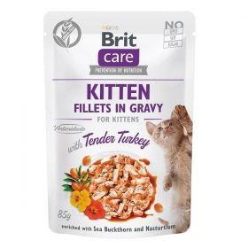 Brit Care Cat kapsička Fillets Gravy Kitten Tender Turkey 85 g