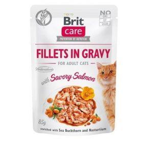 Brit Care Cat kapsička Fillets Gravy Savory Salmon 85 g