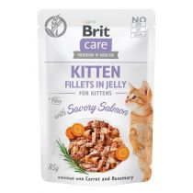 Brit Care Cat kapsička Fillets in Jelly Kitten Savory Salmon 85 g