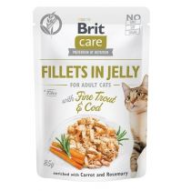 Brit Care Cat kapsička Fillets in Jelly with Trout & Cod 85 g