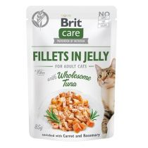 Brit Care Cat kapsička Fillets in Jelly with Wholesome Tuna 85 g