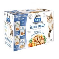 Brit Care Cat kapsičky Fillets in Jelly Flavour box 12x 85 g