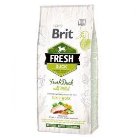 Brit Fresh Duck & Millet Adult Run & Work 12 kg