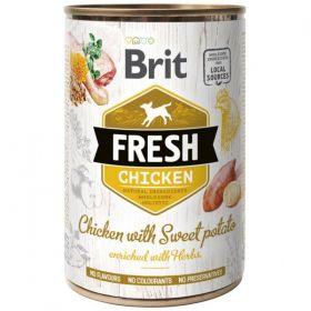 Brit Fresh konzerva Chicken with Sweet Potato 400g