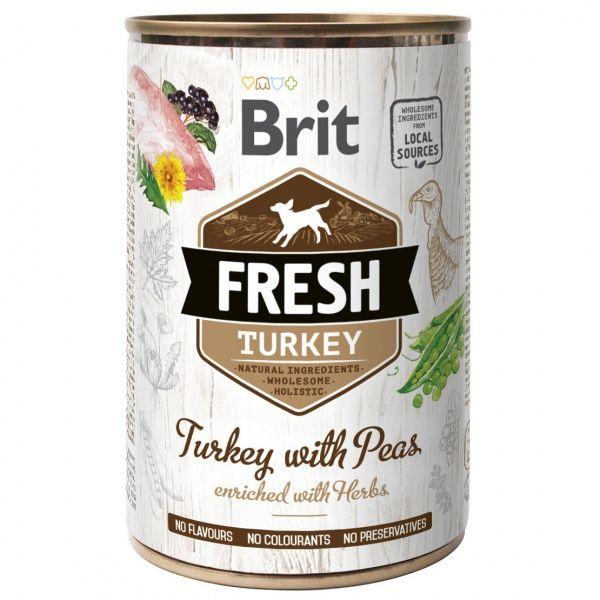 Brit Fresh konzerva Turkey with Peas 400g