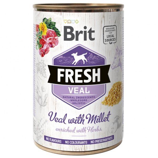 Brit Fresh konzerva Veal with Millet 400g
