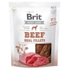Brit pamlsky Jerky Beef Fillets 200g