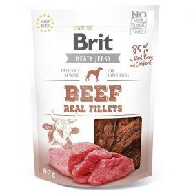 Brit pamlsky Jerky Beef Fillets 80g