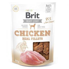 Brit pamlsky Jerky Chicken Fillets 80g
