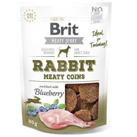 Brit pamlsky Jerky Rabbit Meaty Coins 80g
