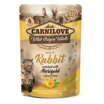 Carnilove Cat Pouch Kitten Rich in Rabbit with Marigold 85 g