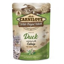Carnilove Cat Pouch Rich in Duck with Catnip 85 g