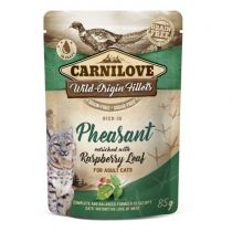 Carnilove Cat Pouch Rich in Pheasant with Raspberry Leaves 85 g