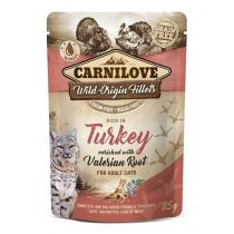 Carnilove Cat Pouch Rich in Turkey with Valerian 85 g