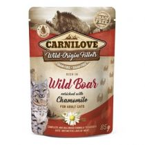 Carnilove Cat Pouch Rich in Wild Boar with Chamomile 85 g