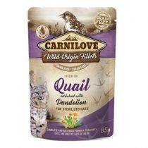 Carnilove Cat Sterilised Pouch Rich in Quail with Dandelion 85 g