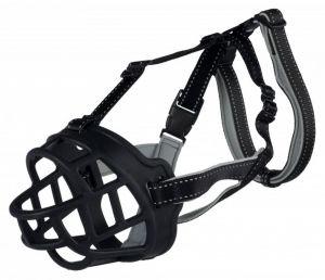 Silikonový náhubek FLEX S 20 cm/hlava max.20 cm černý AKCE