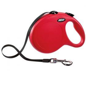Vodítko Flexi Classic pásek L 5 m/ 50 kg červené