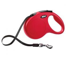 Vodítko Flexi Classic pásek M 5 m/ 25 kg červené