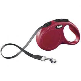 Vodítko Flexi Classic S pásek 5 m/15 kg červené