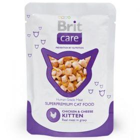 Brit Care Cat kapsička Kitten Chicken & Cheese 80 g