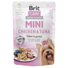 Brit Care Dog kapsička Mini Chicken & Tuna fillets in gravy 85 g