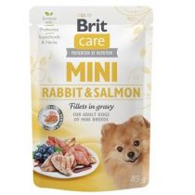 Brit Care Dog kapsička Mini Rabbit & Salmon fillets in gravy 85 g