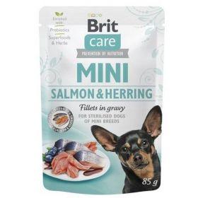 Brit Care Dog kapsička Mini Sterilised Salmon & Herring fillets 85 g