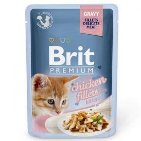 Brit Premium Cat Chicken fillets for kitten 85g