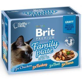   Brit Premium Cat Family plate gravy 12 x 85g