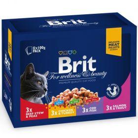 Brit Premium Cat kapsička Family 12x100g