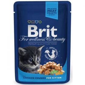   Brit Premium Cat kapsička Kitten kuřecí 100g