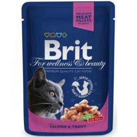 Brit Premium Cat kapsička losos & pstruh 100g