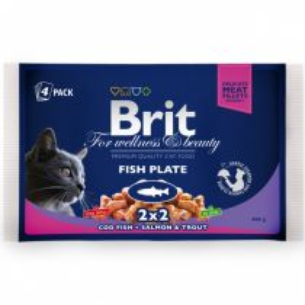 Brit Premium Cat kapsička rybí variace 4x100g