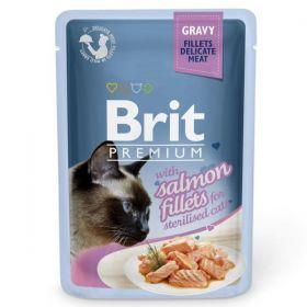 Brit Premium Cat Salmon fillets for sterilised 85g