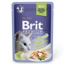Brit Premium Cat Trout fillets in Jelly 85g
