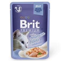 Jelly 85g     Brit Premium Cat Salmon fillets in Jelly 85g